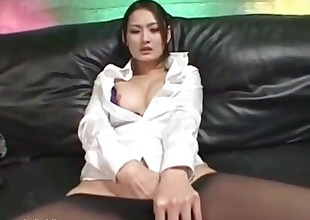 Two dogs fucking this Asian slut